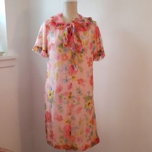Other - Vintage 1960's - 70's Pink Floral Night Gown/Robe